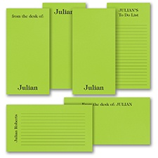 Jot a Line - Note Pad Gift Set - 50 Sheet - Green
